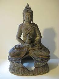 ornaments large penn plax zen buddha lotus statue aquarium tank