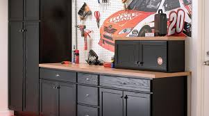 kitchen cabinets in garage american classics unfinished oak cabinets used in a garage setting