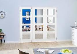 white 4l folding room divider 6ft 1800mm set at express doors