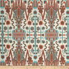 Bombay Home Decor Lacefield Bombay Ikat Slub Paprika Discount Designer Fabric