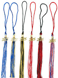 graduation tassles two color graduation tassels 9 inch 2 color grad tassel