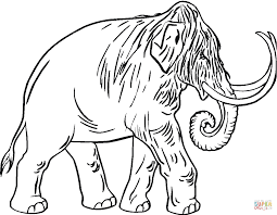 mammoth coloring pages free coloring pages