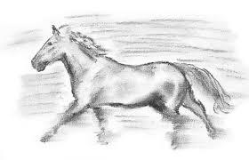running horse sketch by barthas on deviantart