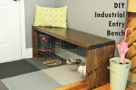 Industrial Bench Diy Industrial Entry Shoe Bench