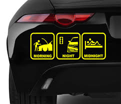 jdm sticker on car morning night midnight car vinyl stickers bumper van window laptop