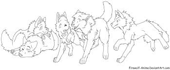 Anime Wolf Coloring Pages Getcoloringpages Com Wolf Pack Coloring Pages