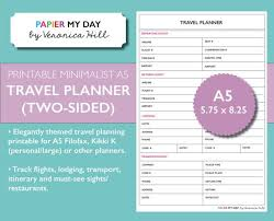 54 inspirational trip planner itinerary template template free
