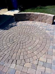 Circular Paver Patio Concrete Paver Patio Pavers