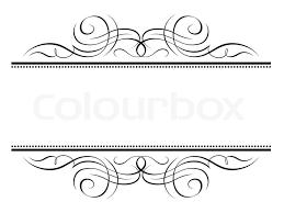 calligraphy vignette ornamental penmanship decorative frame