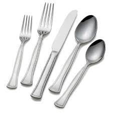 gourmet basics by mikasa chadwick bead 45 piece flatware set at
