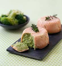 cuisine brocolis timbales au saumon fumé et mousse de brocolis à la ère de