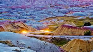South Dakota national parks images Bing image archive headlights streaking through badlands national jpg