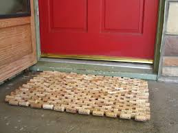Cork Mats For Bathrooms Recycled Wine Cork Doormat 120 00 Via Etsy Or Diy For Less