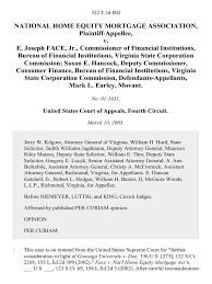bureau of financial institutions national home equity mortgage association v e joseph jr
