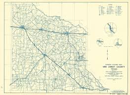 Texas Highway Map Old County Map Van Zandt Texas Highway Dept 1936