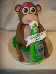 beer cake monkey drinking a beer cakes by michelle