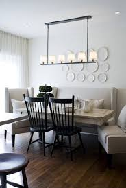 Armless Settee Dining Decorative Plates For Dining Room Wall Design Ideas