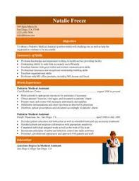 Resume Examples Free by Download Free Medical Assistant Resume Templates Browse For