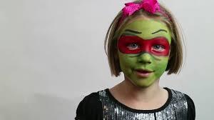 diy kids face paint teenage mutant ninja turtles rafael face paint