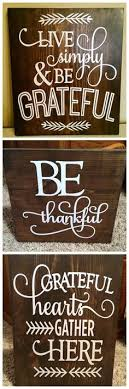 signs thanksgiving and decor wooden
