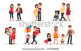 set family leisure lunch home picnic stock vector 617599634