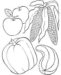 fruit of the field thanksgiving dinner coloring page autumn