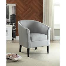 linon home decor simon light grey pvc chair 36077gry01u the home linon home decor simon light grey pvc chair