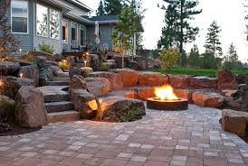 Backyard Firepits Spokane Coeur D Alene Backyard Pit Design Construction