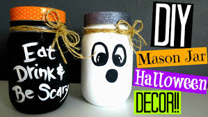 Halloween Candy Jar Ideas by Diy Halloween Decor Mason Jar Decorations Youtube