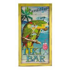 Tiki Home Decor Tiki Bar Decorations Tiki Signs And String Lights