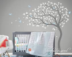 Tree Decal For Nursery Wall Wall Decals Nursery Etsy