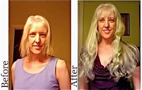 clip in hair extensions before and after before and after hair extension transformations