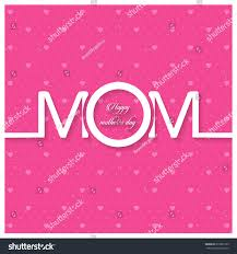 happy mothers day lettering handmade calligraphy stock vector