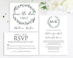 wedding invitations greenery wedding invitation greenery eucalyptus simple calligraphy