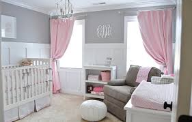 baby nursery ideas pink and brown white crib gray color green
