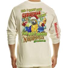 margaritaville cartoon l s christmas boat drk t shirt margaritaville apparel store
