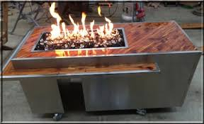 Diy Firepit Table Clean Burning Outdoor Firepits Propane Burner Authority And