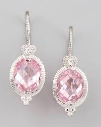 pink drop earrings lyst judith ripka pink drop earrings in pink