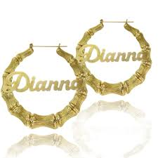 hoop earrings with name personalized vertical bar earrings be monogrammed