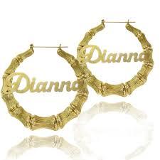 name plated earrings personalized vertical bar earrings be monogrammed