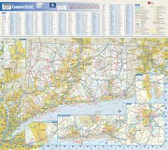 Wall Map Connecticut State Wall Map