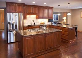 kitchen remodel with wood cabinets project feature apple valley kitchen remodel cherry wood