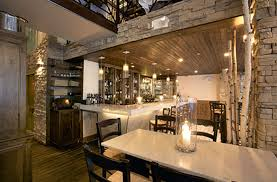uniqe bar interior design ammos restaurant ny new york by design
