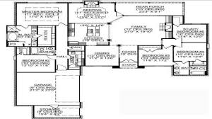 One Floor House Plan by House Plans 1 Story 5 Bedroom House Plans One Story House Floor