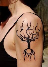 tree shoulder tattoos fashion shoulder