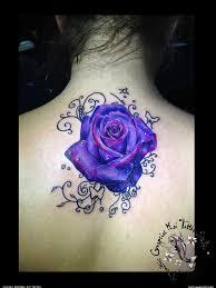 purple rose tattoo cover up roses tattoo tattoos pinterest