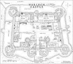 harlech castle floor plan valine