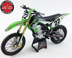 toy motocross bike chad reed kawasaki kxf 450 1 12 die cast motocross mx toy model