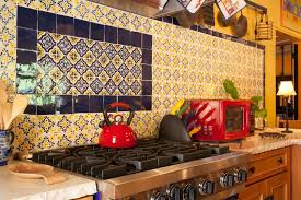 mexican tile backsplash kitchen kitchen detail glazed mexican tile backsplash in hacienda style