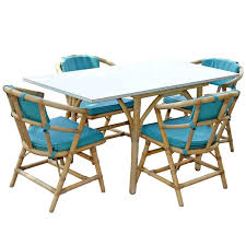 terrace pool house bamboo rattan folding dining table set at 1stdibs